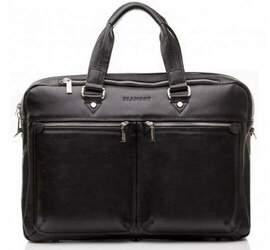 """Мужская кожаная сумка для ноутбука 14"""" Blamont"""