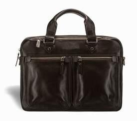 """Мужская кожаная сумка для ноутбука 12""""-14"""" Blamont"""