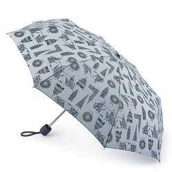 Зонт женский Fulton Stowaway-24 G701 London Landmarks (Достопримечательности Лондона) id