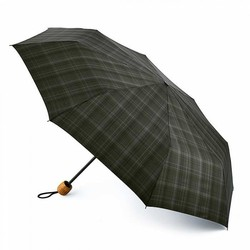 Зонт мужской Fulton Hackney-2 G868 Charcoal Check (Темно-серая клетка)