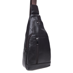 Мужской кожаный рюкзак через плечо Keizer