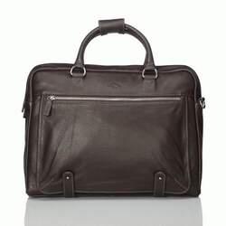Кожаная коричневая сумка для ноутбука Katana (Франция)