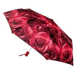 Зонт женский Fulton Open & Close-4 L346 Photo Rose Red (Красные розы) id