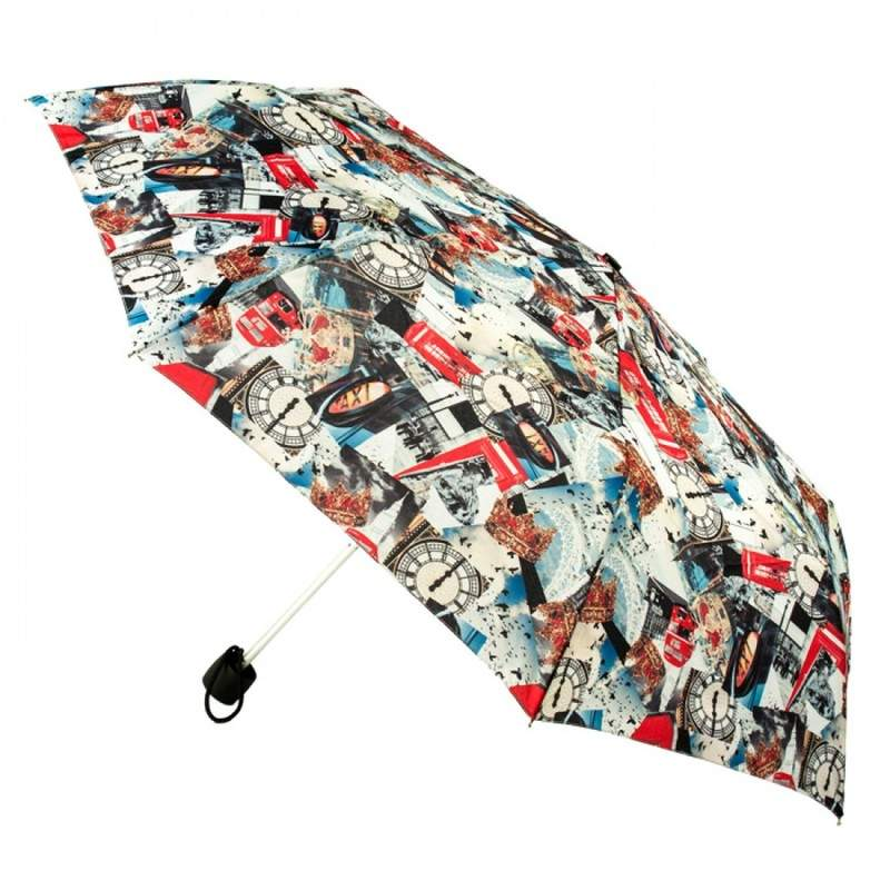 Зонт женский Fulton Minilite-2 L354 London Photographic (Лондонские фотографии) 13620 - фото 1