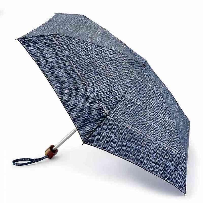 Зонт женский Fulton Tiny-2 L501 Tweed Check (Клетка) 13499 - фото 1
