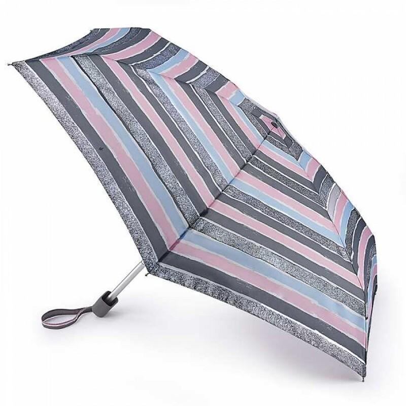 Зонт женский Fulton Tiny-2 L501 Sparkle Stripe (Искристые полосы) 13505 - фото 1