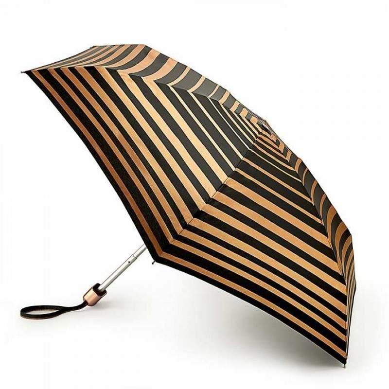 Зонт женский Fulton Tiny-2 L501 Bands of Gold (Золотые ленты) 13488 - фото 1