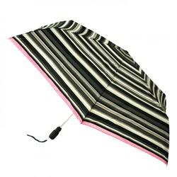 Зонт женский Fulton Open&Close Superslim-2 L711 Graphite Stripe (Графическая полоска)