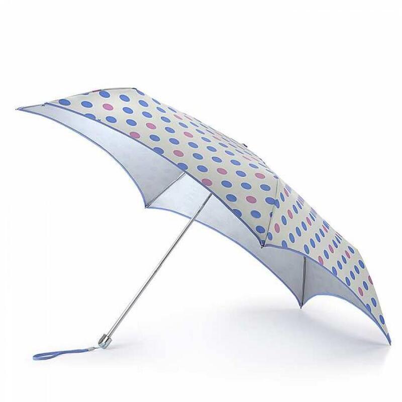 Зонт женский Fulton Parasoleil UV L752 Pastel Spot (Горошек) 13583 - фото 1