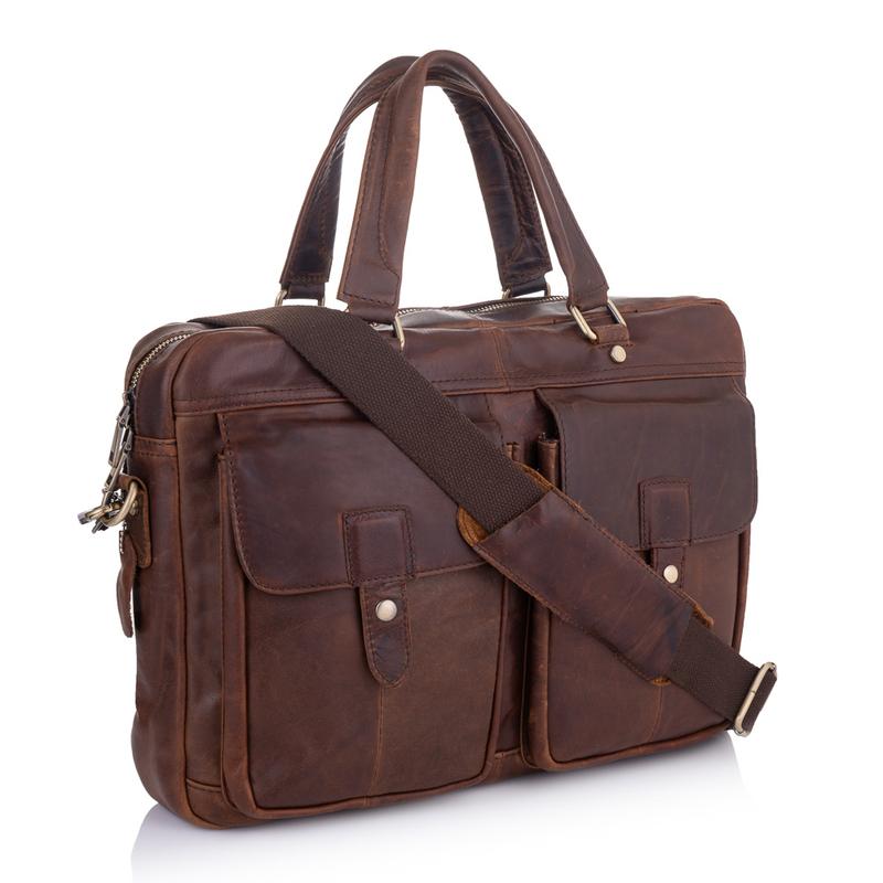 Кожаный портфель Buffalo Bags 19215 - фото 1