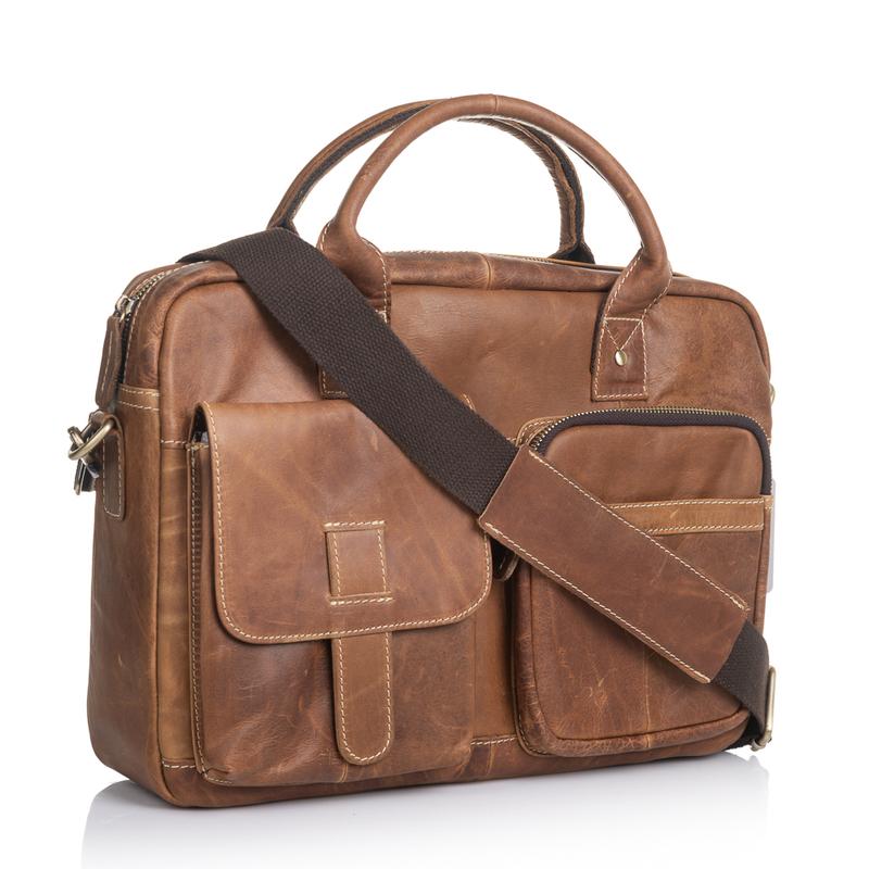 Мужская кожаная сумка Marranti 13853 - фото 1