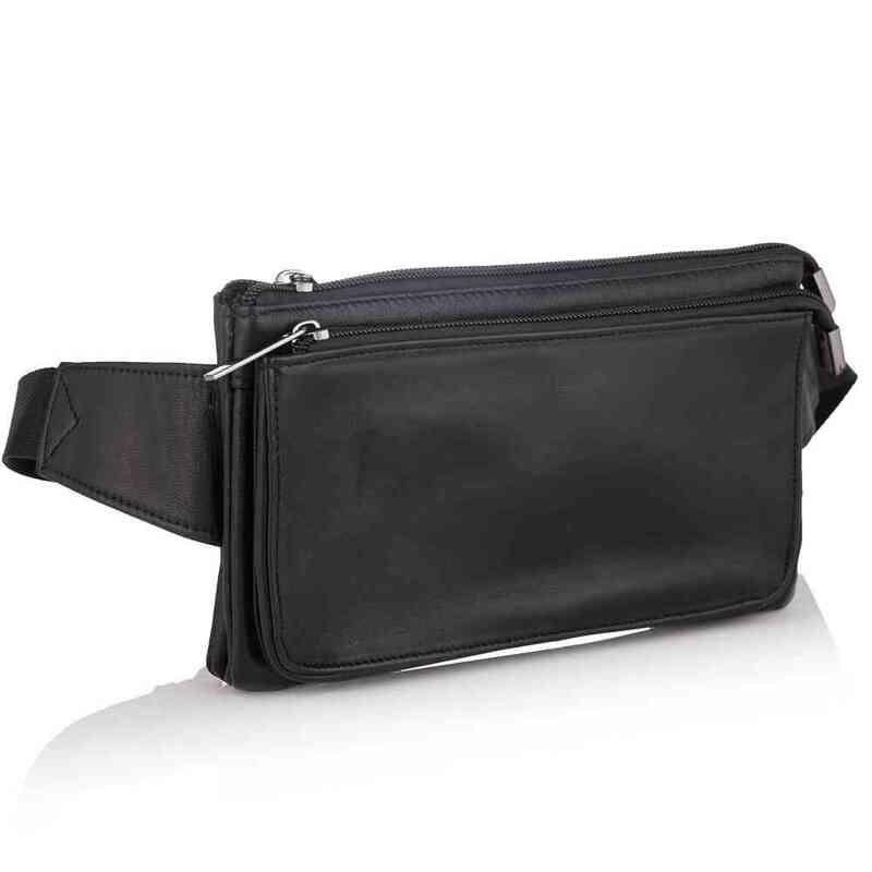 Мужская поясная кожаная сумка Buffalo Bags 19210 - фото 1