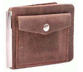 Кожаный зажим для денег Man-003