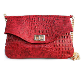 Кожаная сумочка-клатч POOLPARTY с цепочкой id