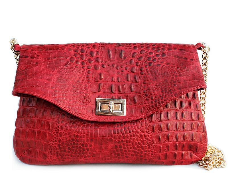 Кожаная сумочка-клатч POOLPARTY с цепочкой 4248 - фото 1