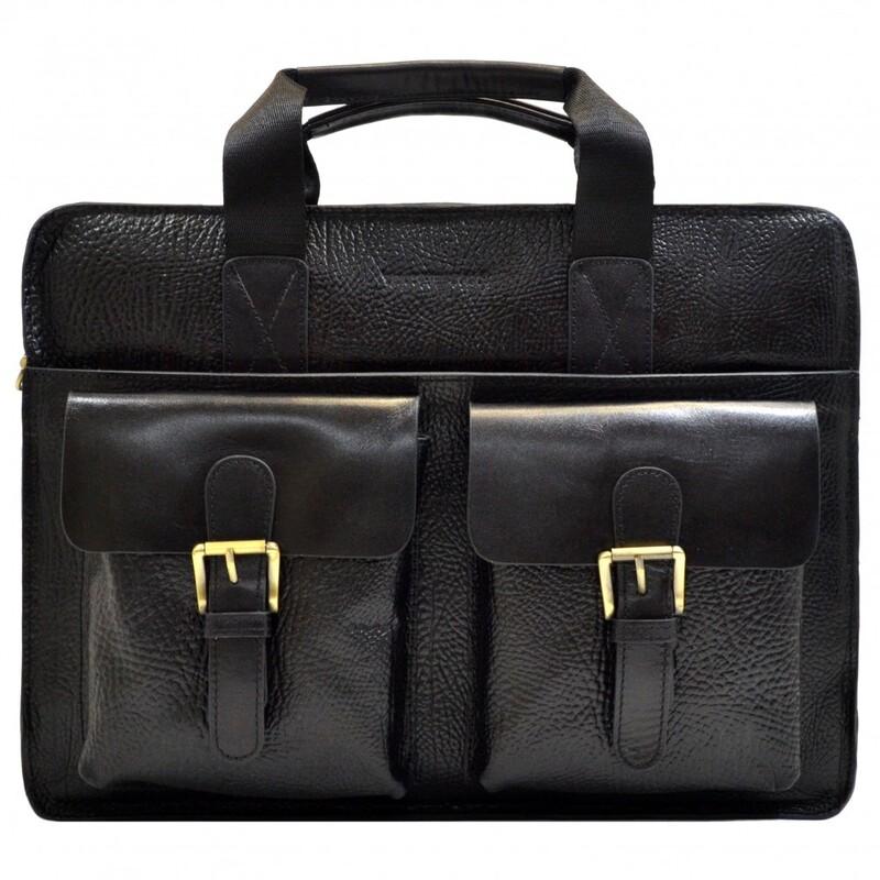 Мужской кожаный портфель Tony Bellucci (Италия) 17390 - фото 1