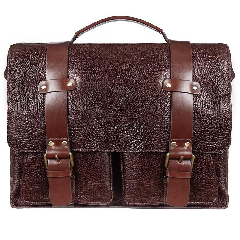 Мужской кожаный портфель Tony Bellucci (Италия) 17392 - фото 1