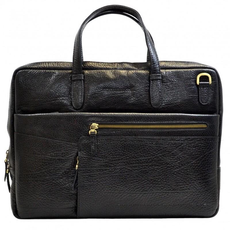 Мужской кожаный портфель Tony Bellucci (Италия) 17393 - фото 1