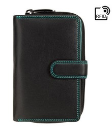 Женский кошелек Visconti R13 Carmelo c RFID (Black/Rhumba)
