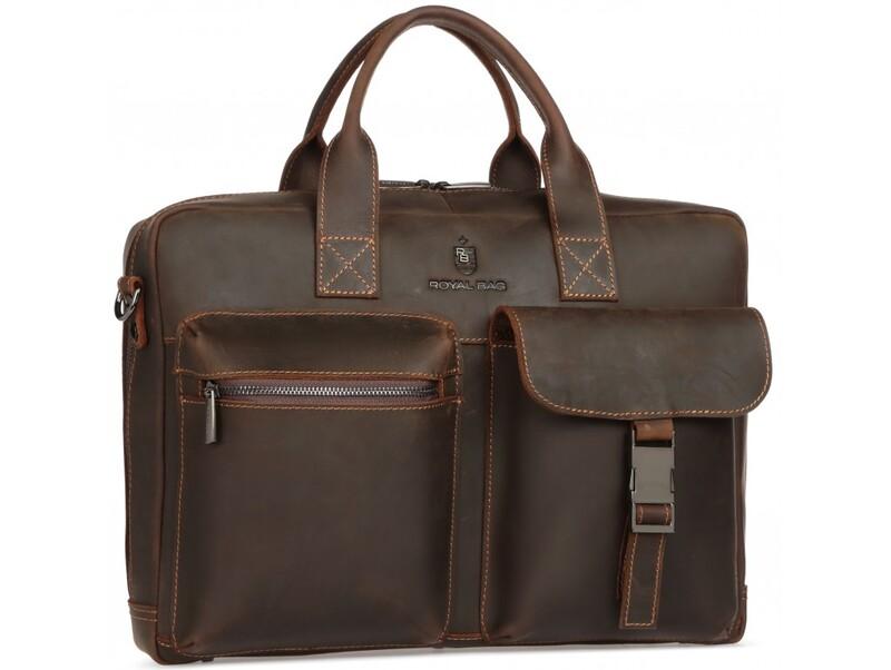 Мужская кожаная сумка RoyalBag 18037 - фото 1