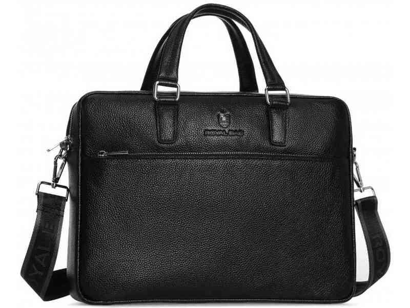 Мужская кожаная сумка RoyalBag 18046 - фото 1