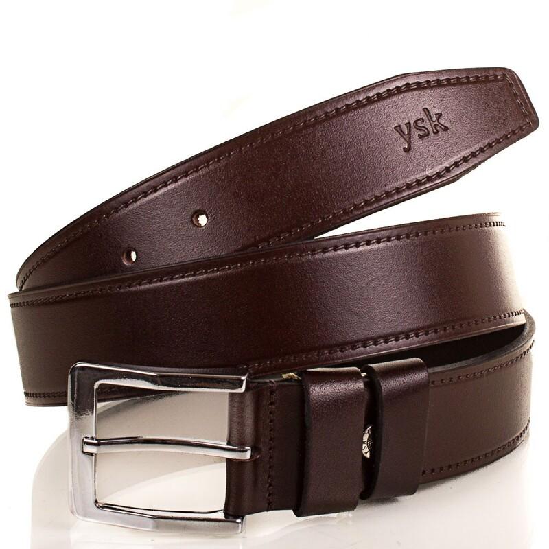 Кожаный ремень Y.S.K. (Турция) 4-2028-2 5391 - фото 1