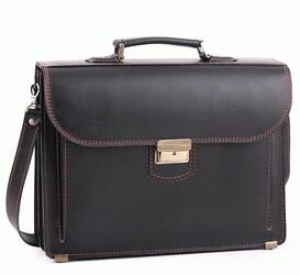 Кожаный мужской портфель RVM-1Black2 id