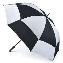 Зонт-гольфер Fulton Stormshield S669 Black White (Черно-Белый) id