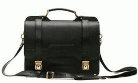 Деловой кожаный портфель SPS-3Black