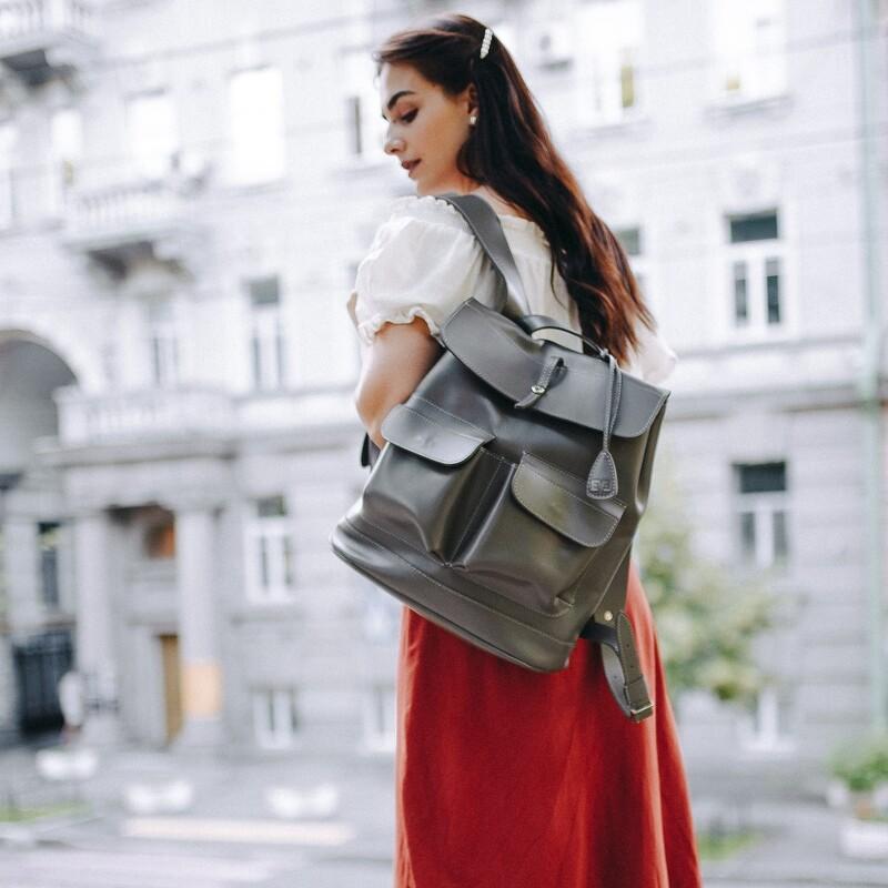 """Кожаный рюкзак Level """"Боббер"""" 13744 - фото 1"""