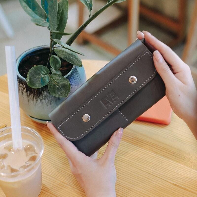 Женский кожаный кошелек Двойной Level 13805 - фото 1