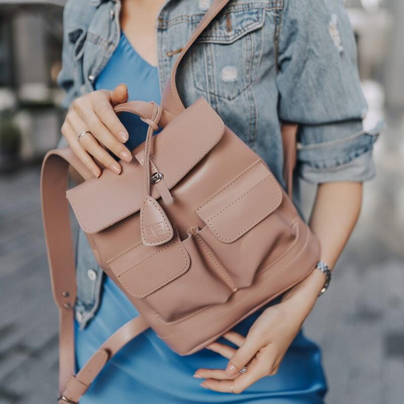 """Кожаный рюкзак Level """"Бейби Боббер"""" 13765 - фото 1"""
