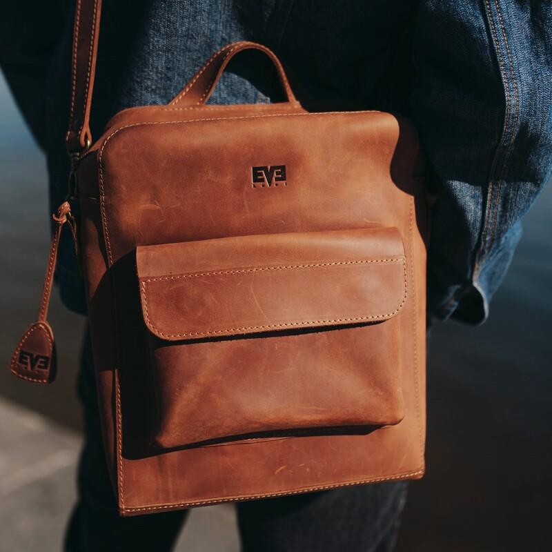 """Кожаная сумка Level """"Транш"""" 12612 - фото 1"""