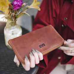 Кожаный кошелек Спикер Level id