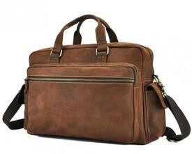 """Кожаная сумка Tiding для ноутбука 15"""""""