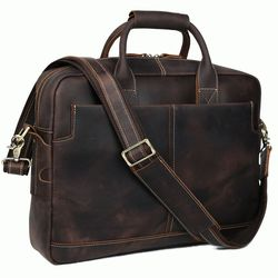 Кожаный винтажный мужской портфель Tiding