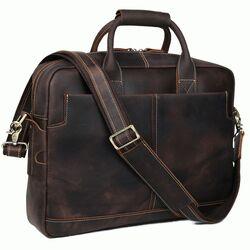 "Винтажная кожаная сумка для ноутбука 15,6"" Tiding"