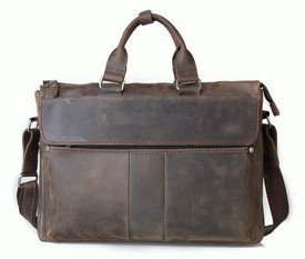 """Кожаный портфель для ноутбука 17"""" Tiding id"""