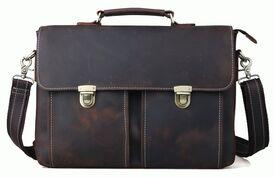 Кожаный деловой портфель Tiding из лошадиной кожи