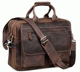 Деловой мужской кожаный портфель Tiding