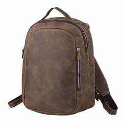 Кожаный коричневый рюкзак Tiding