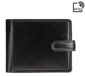 Мужской кожаный кошелек Visconti TR35 Atlantis c RFID (Black Blue)