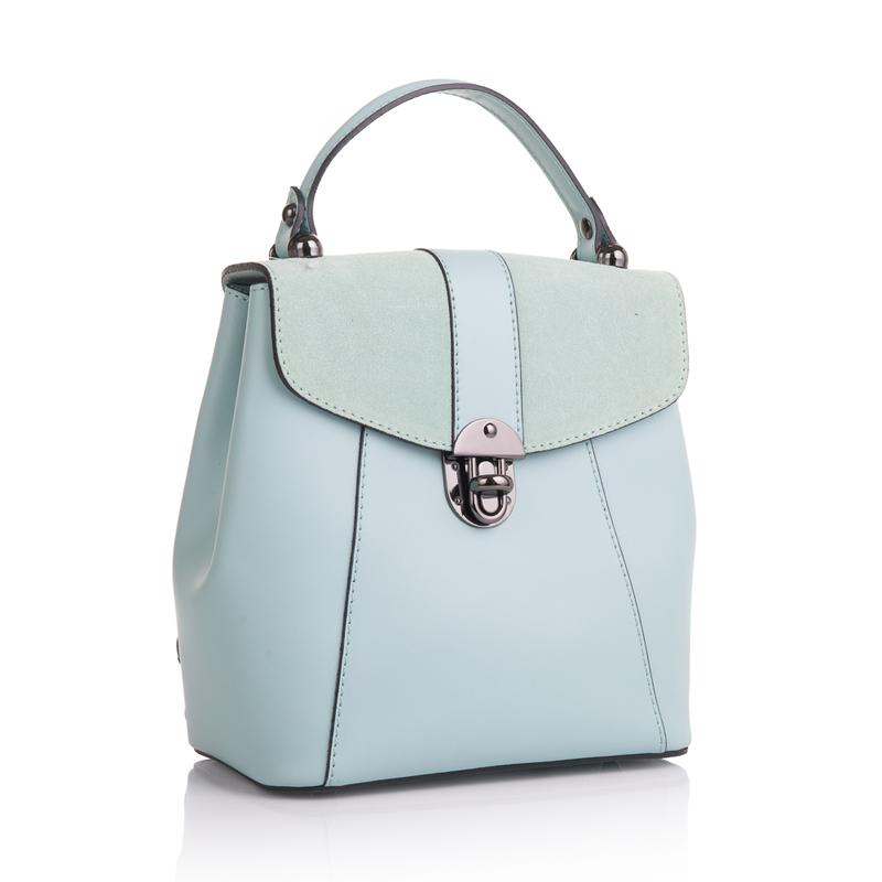 Кожаная женская сумка-рюкзак Virginia Conti (Италия) 13362 - фото 1