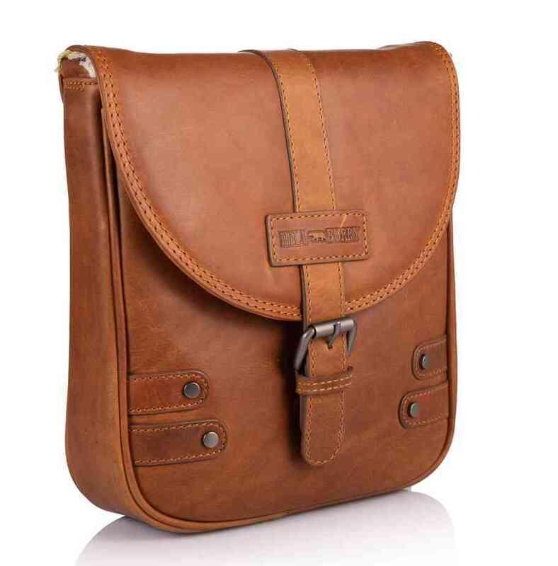 Кожаная сумка-мессенджер Hill Burry (Германия) 17813 - фото 1
