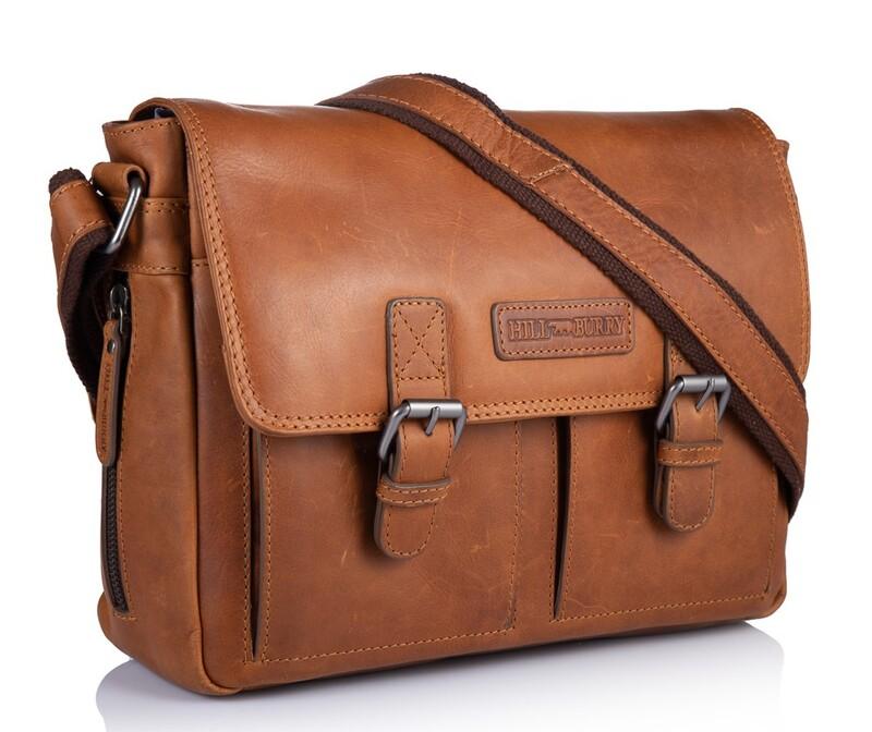 Кожаная сумка-мессенджер Hill Burry (Германия) 13434 - фото 1