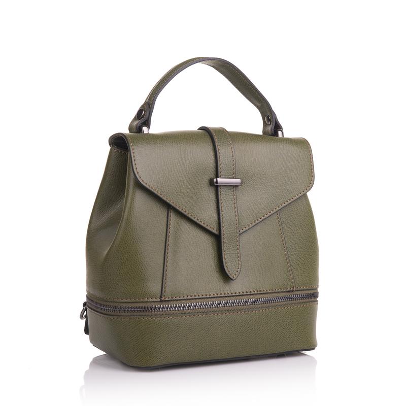 Кожаная женская сумка-рюкзак Virginia Conti (Италия) 13346 - фото 1