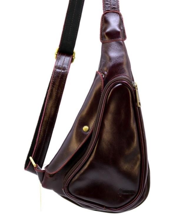 Кожаный рюкзак через плечо TARWA 19368 - фото 1
