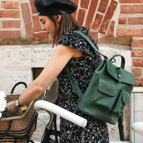 """Кожаный рюкзак Level """"Бейби Боббер"""" 11814 - фото 1"""