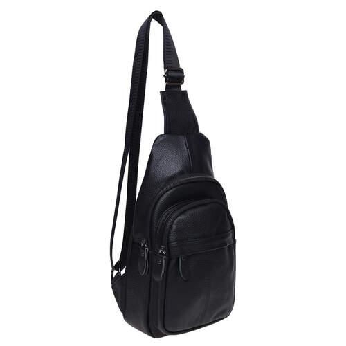 Мужской кожаный рюкзак через плечо Keizer 18495 - фото 1