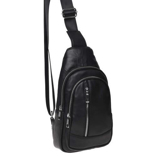 Мужской кожаный рюкзак через плечо Keizer 18489 - фото 1